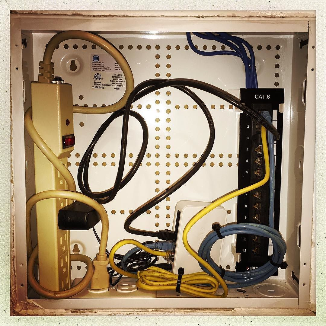 A Geeks Closet Structured Wiring Panel Cabinet Myhome Cat6