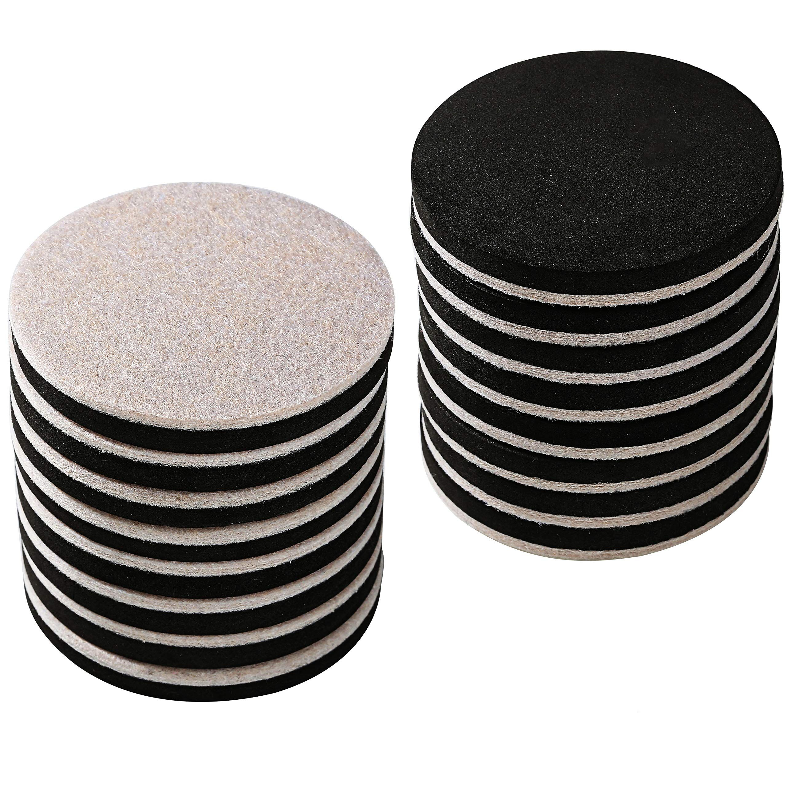 16 Pack 3 5 In Premium Heavy Furniture Movers For Wood Floor Felt Furniture Slider In A Reusable Tube 3 Furniture Sliders Furniture Moving Pads Furniture Pads
