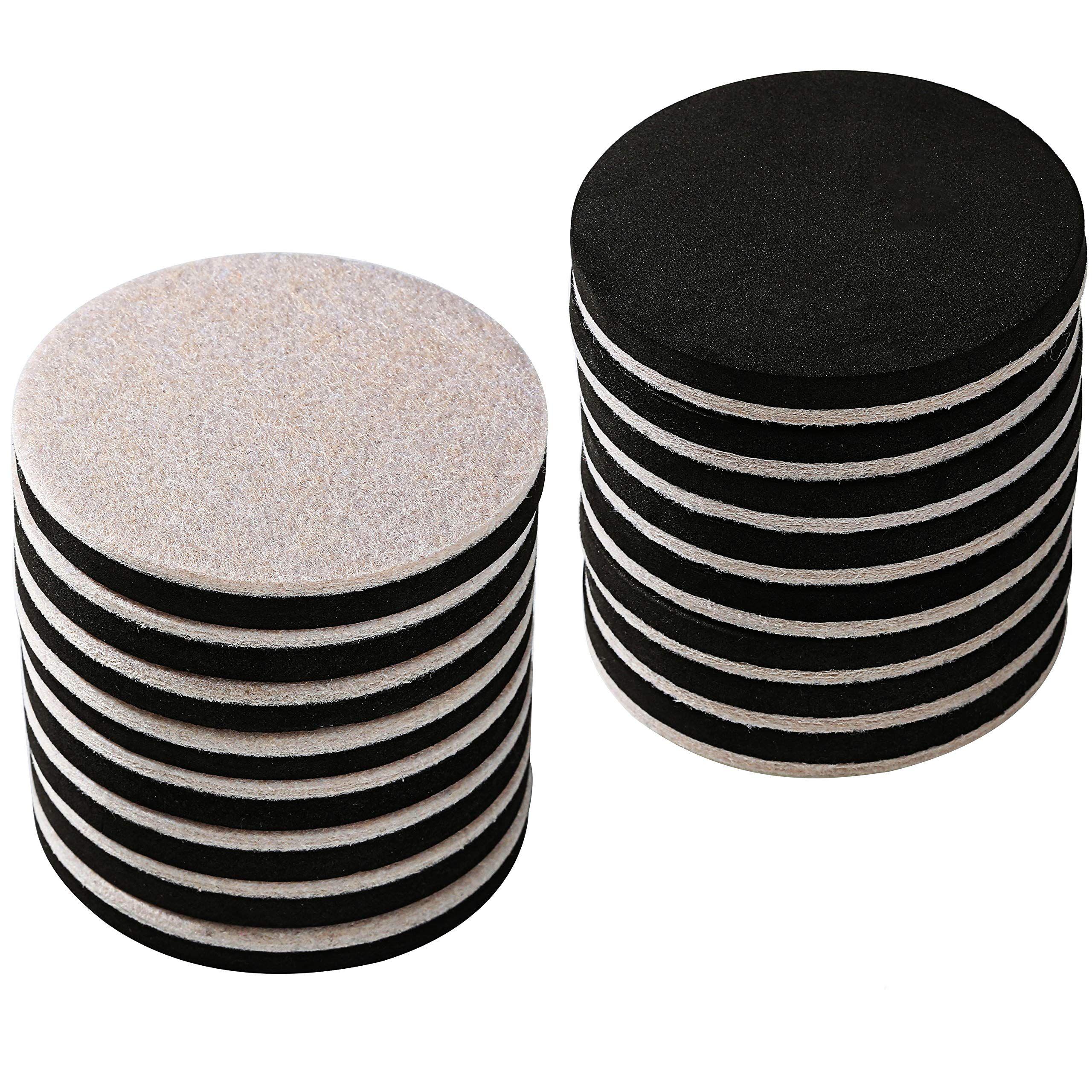 16 Pack 3 5 In Premium Heavy Furniture Movers For Wood Floor Felt