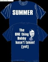 A group of teachers at Houma Junior High School designed a T-shirt criticizing Gov. Bobby Jindal's education policies as part of a decade-long, sometimes sarcastic tradition.    However, school system administrators nixed the shirt, saying recent high-profile debates make the design too controversial.