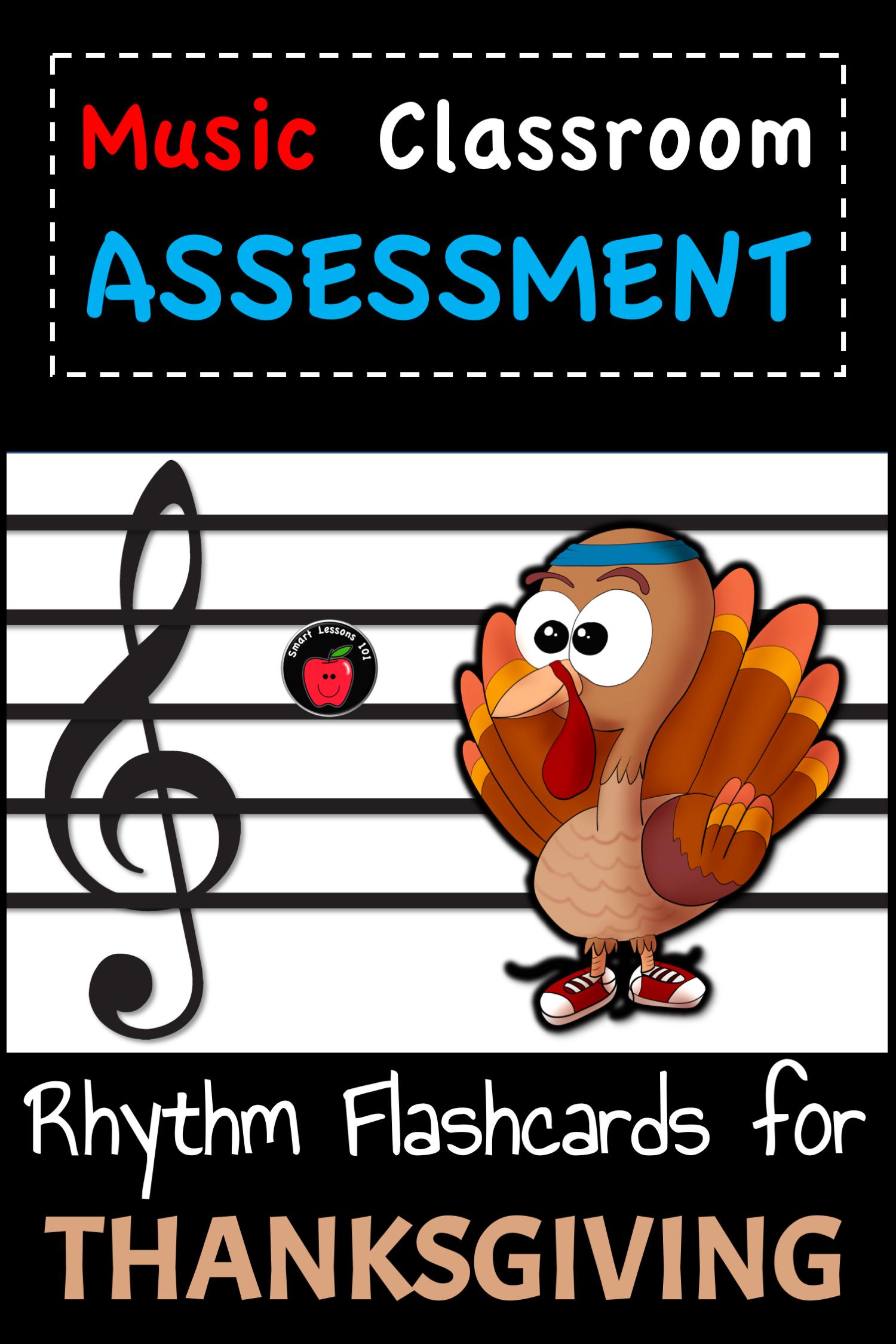 Thanksgiving Music Activity Rhythm Flashcards