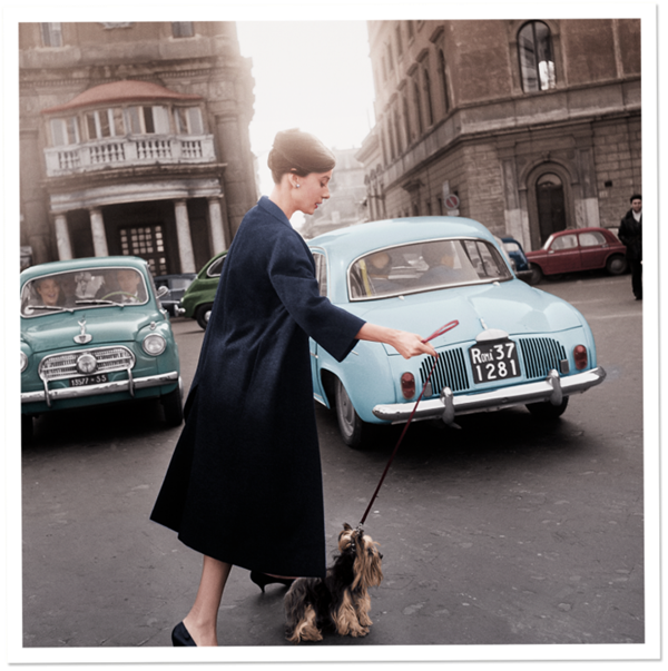 Audrey Hepburn and a dog - so cool!