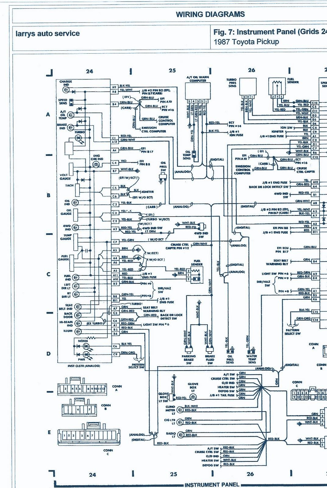 1993 Toyota truck electrical wiring diagram كهرب ياباني