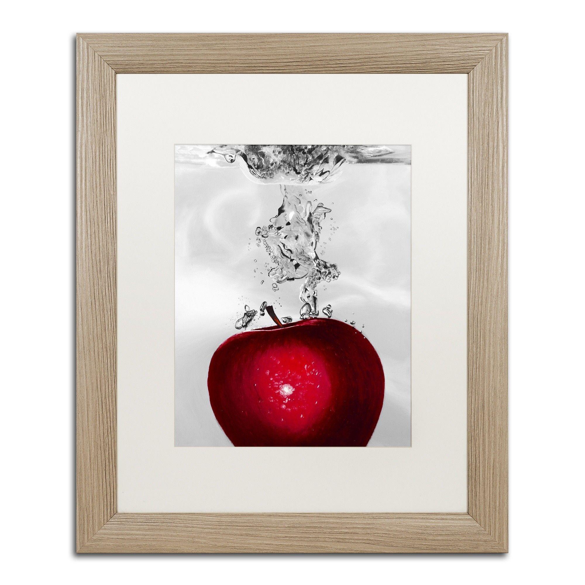 Red apple splash by roderick stevens framed graphic art red apple