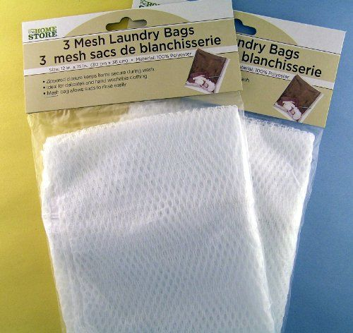 6 Mesh White Laundry Bags Two Packs For Only 2 34 White