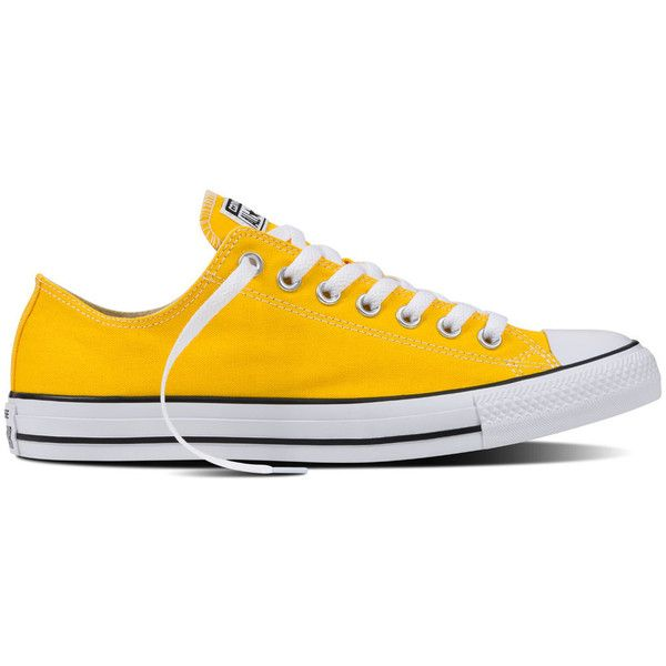 Converse Chuck Taylor All Star Fresh Colors – lemon chrome Sneakers ( 50) ❤  liked on Polyvore featuring shoes 060d750ec
