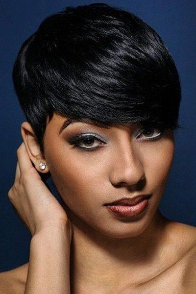 Short Side Bang Capless Straight Heat Resistant Synthetic