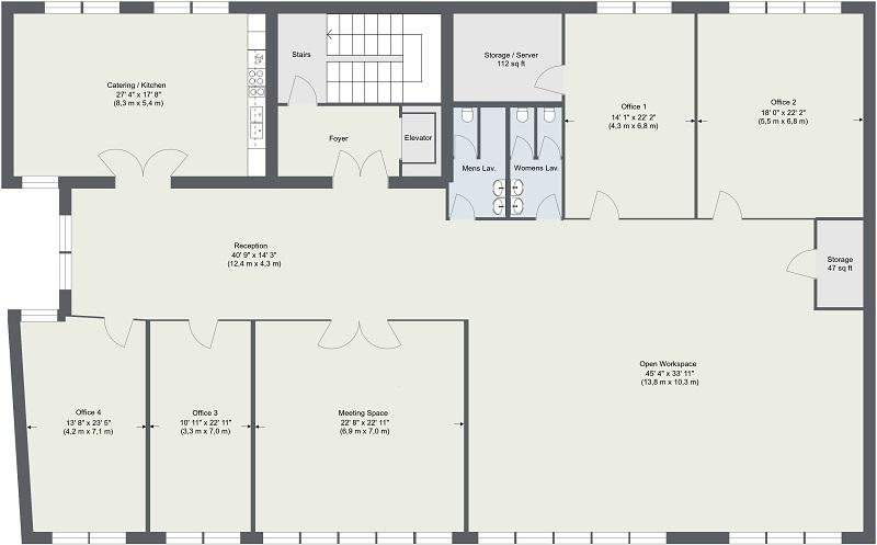 Commercial Real Estate Floor Plans Floor Plans Space Planning Office Floor Plan