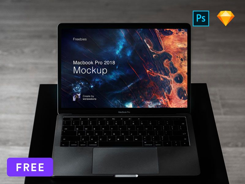 Macbook Pro 2018 Psd Mockup Computer Mockup Macbook Mockup Macbook Pro