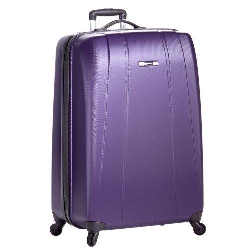 Delsey Luggage Helium Shadow Lightweight 4 Wheel Spinner, Purple ...