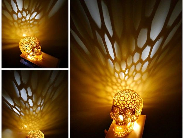 Skull lampshade voronoi style at likefigures 3d print skull lampshade voronoi style at likefigures aloadofball Image collections