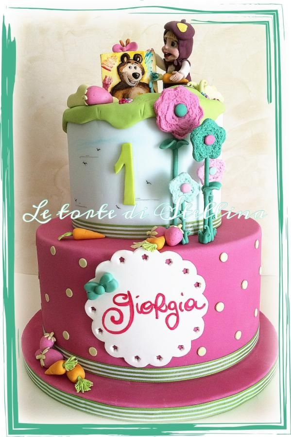Masha and the bear - Cake by graziastellina