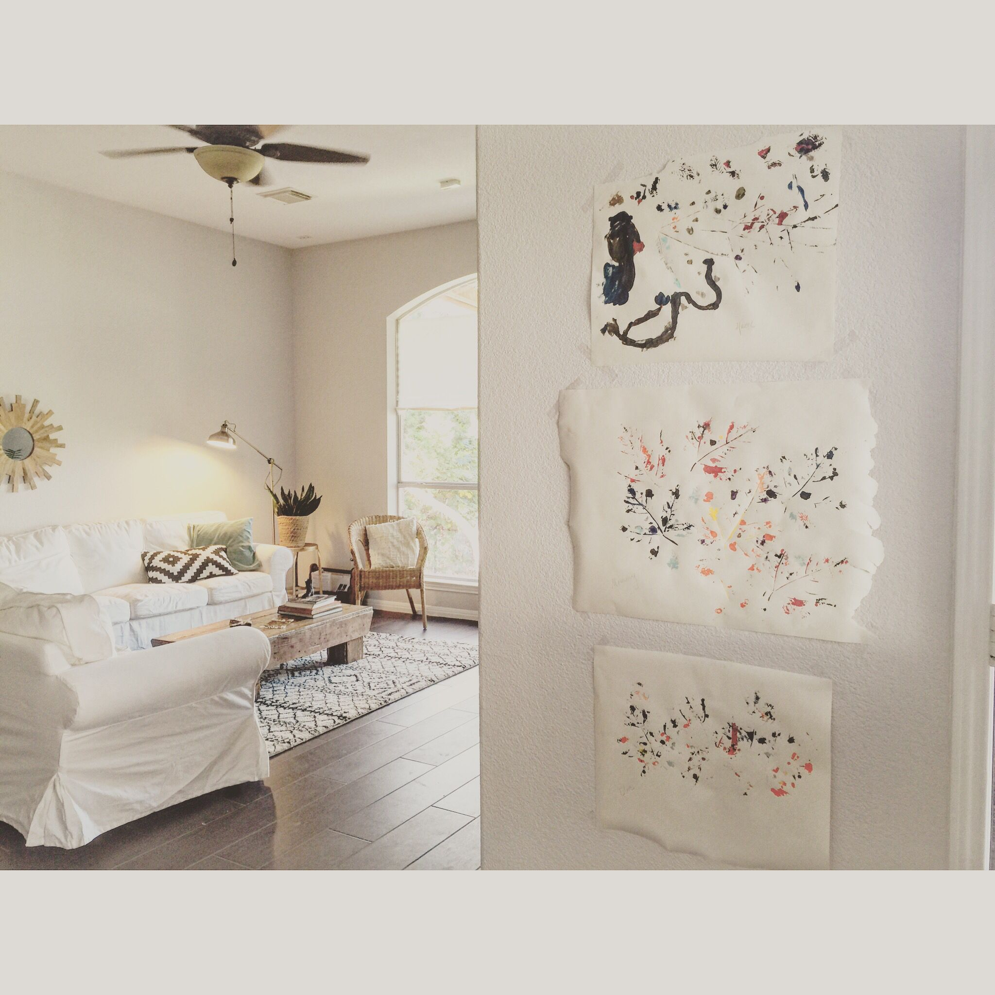 Best Displaying Kids Art Paint And Leaves White Rooms 400 x 300