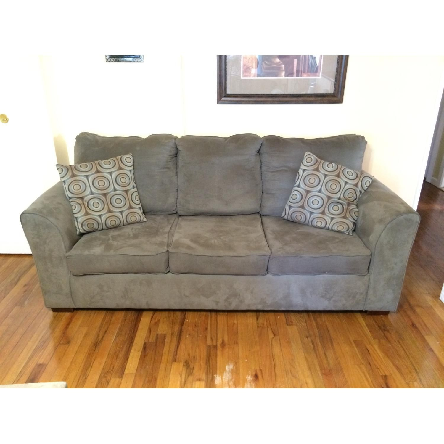 Bob's Green/Grey Sofa + Loveseat + Chaise Lounge AptDeco