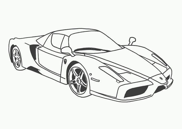 Coloriage voiture ferrari kirigami cars coloring pages race car coloring pages et truck - Dessin voiture de police ...