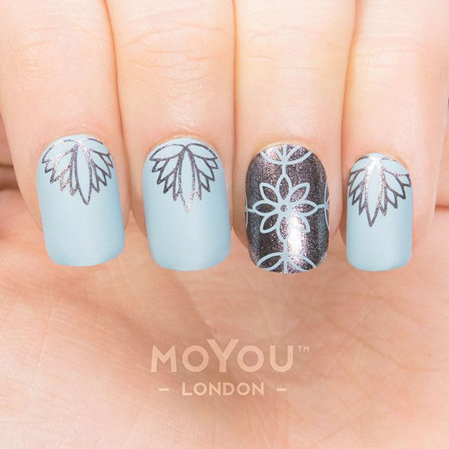 Scandi 08 | MoYou London | Uñas | Pinterest | Decoración de uñas ...
