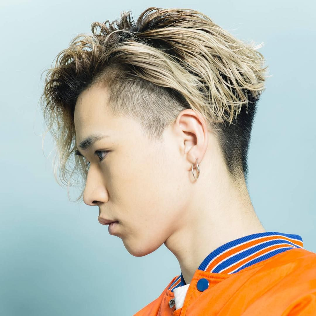 Blonde Undercuts hairstyles for Japanese Man