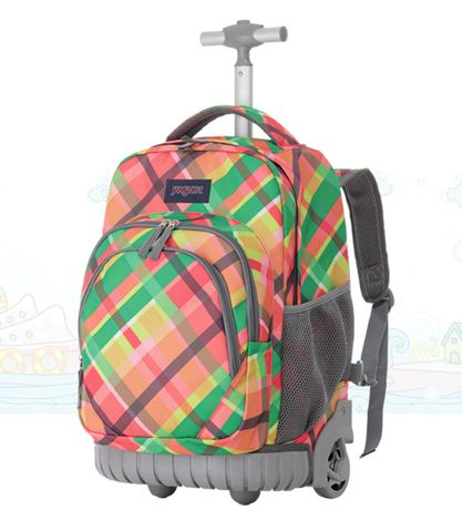 Aliexpress.com : Buy 2015 New Wheeled Book Bag Kids Rolling ...