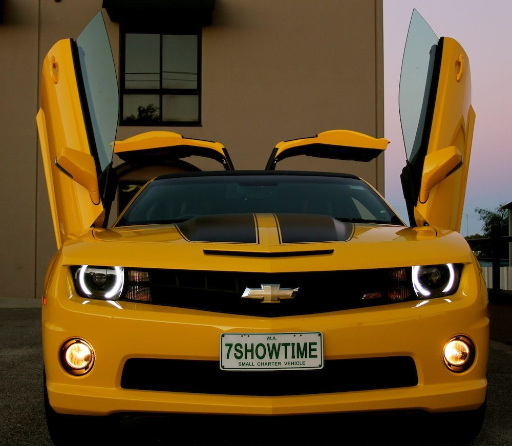Aussies turn bumblebee camaro into gullwing door limo w videos aussies limo and cars