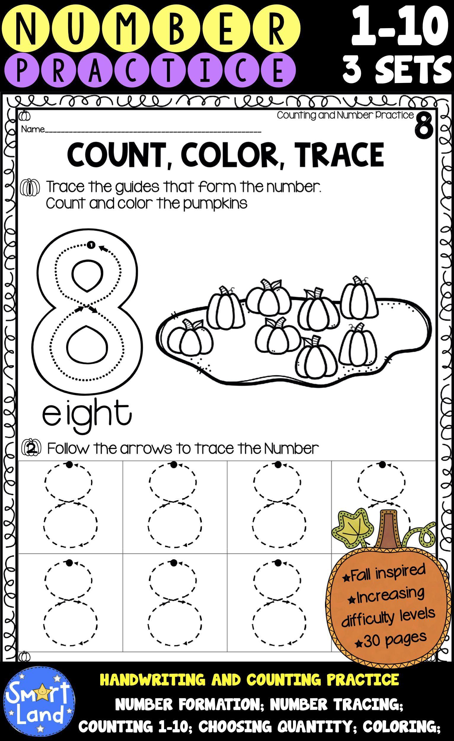 30 Worksheets Count And Color Part 3 Reginald Penhorst