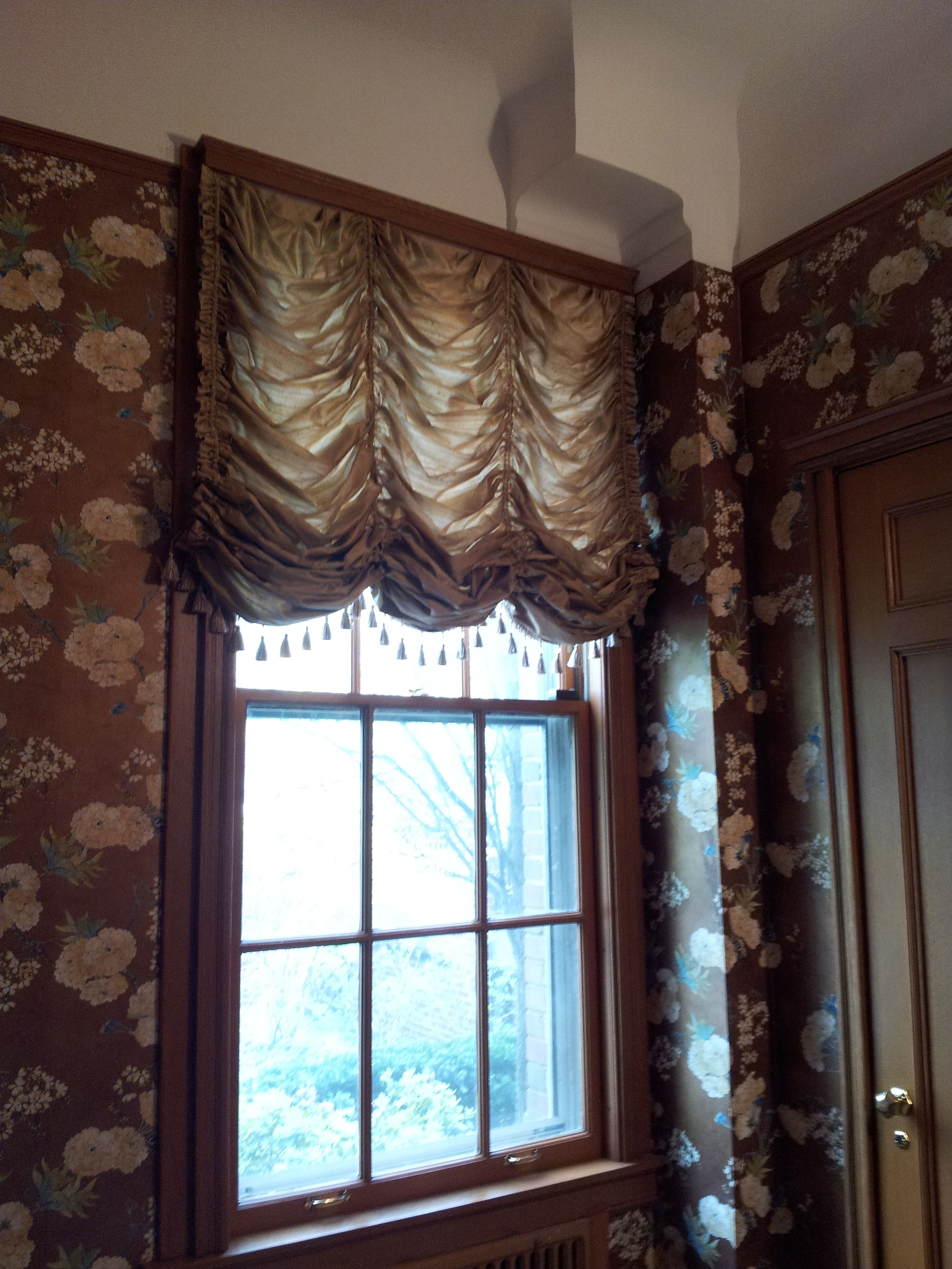 Casual Austrian Shade With Silk Drapes Curtains
