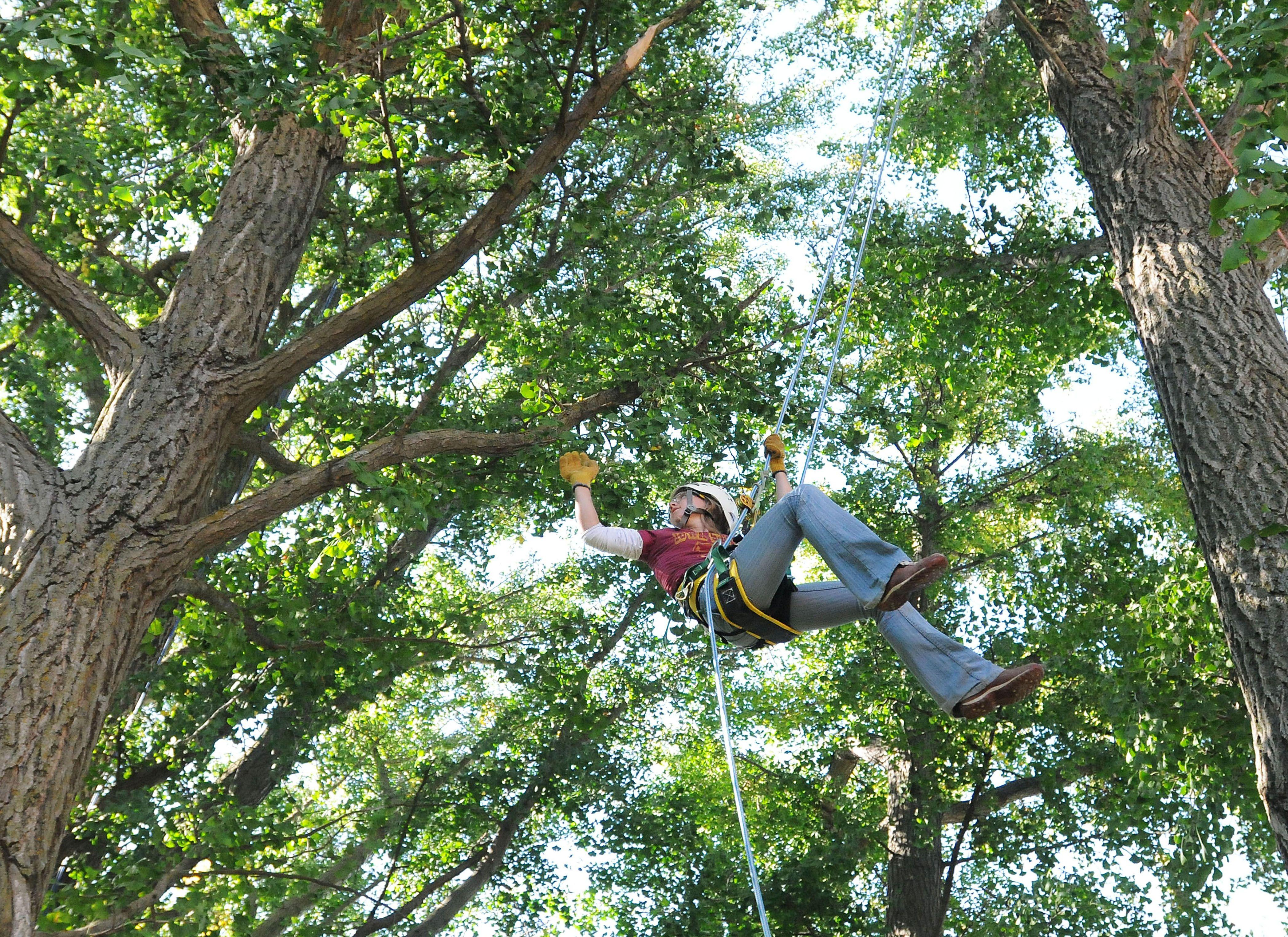 Iowa State University Student Maia Van Holsteijn, 21, Swings Between