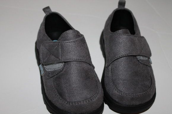New faux suede rubber soled shoes, 18 months