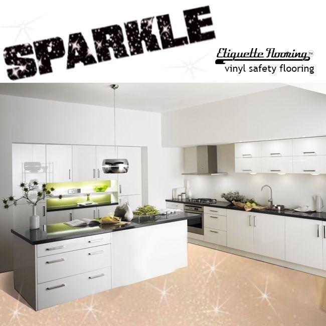 Beige Sparkle Safety Flooring Kitchen Floor Vinyl Lino Sparkly Glitter Wetroom Vinyl Flooring Kitchen Flooring Vinyl Flooring Kitchen