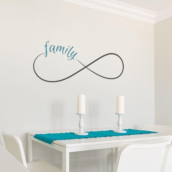 Vinilo decorativo infinito con la frase familia, ideal para ...