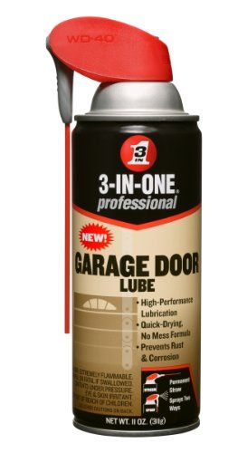 3 In One 100584 Professional Garage Door Lubricant Spray 11 Oz Pack Of 1 3 In One 6 99 Garage Door Lubricant Garage Doors Garage