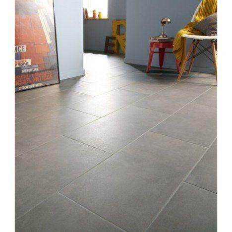 Carrelage sol et mur gris poivré effet béton Kiosque l308 x L615