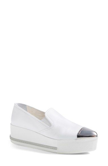 f9c8e1605722 Miu Miu Metal Cap Toe Platform Sneaker (Women) available at  Nordstrom