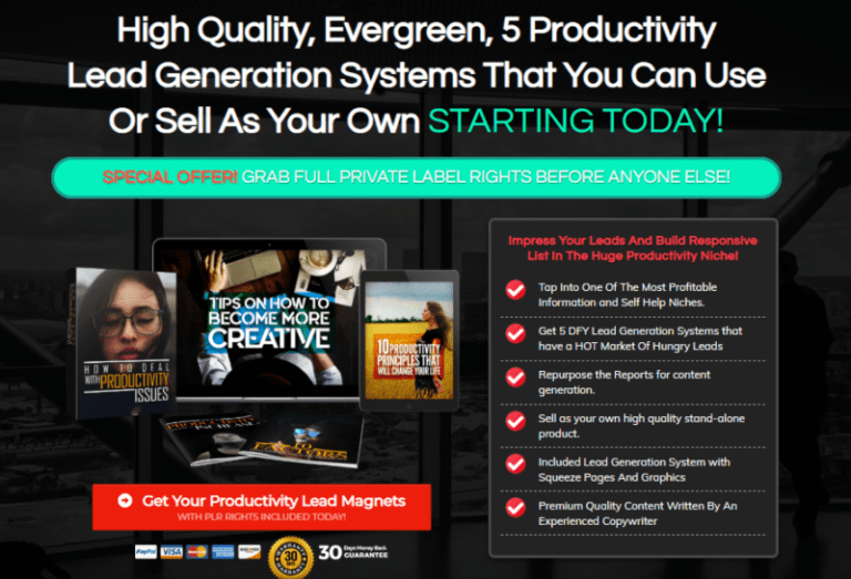 Productivity Lead Generation Systems PLR  OTO Review by Sorin Constantin - Best ... -  Productivity Lead Generation Systems PLR  OTO Review by Sorin Constantin – Best PLR with 5 Evergr - #Constantin #Generation #Lead #leadbyexamplequotes #leadgeneration #leadmagnetideas #leadmetotherockthatishigher #leadsled #OTO #PLR #Productivity #Review #Sorin #Systems