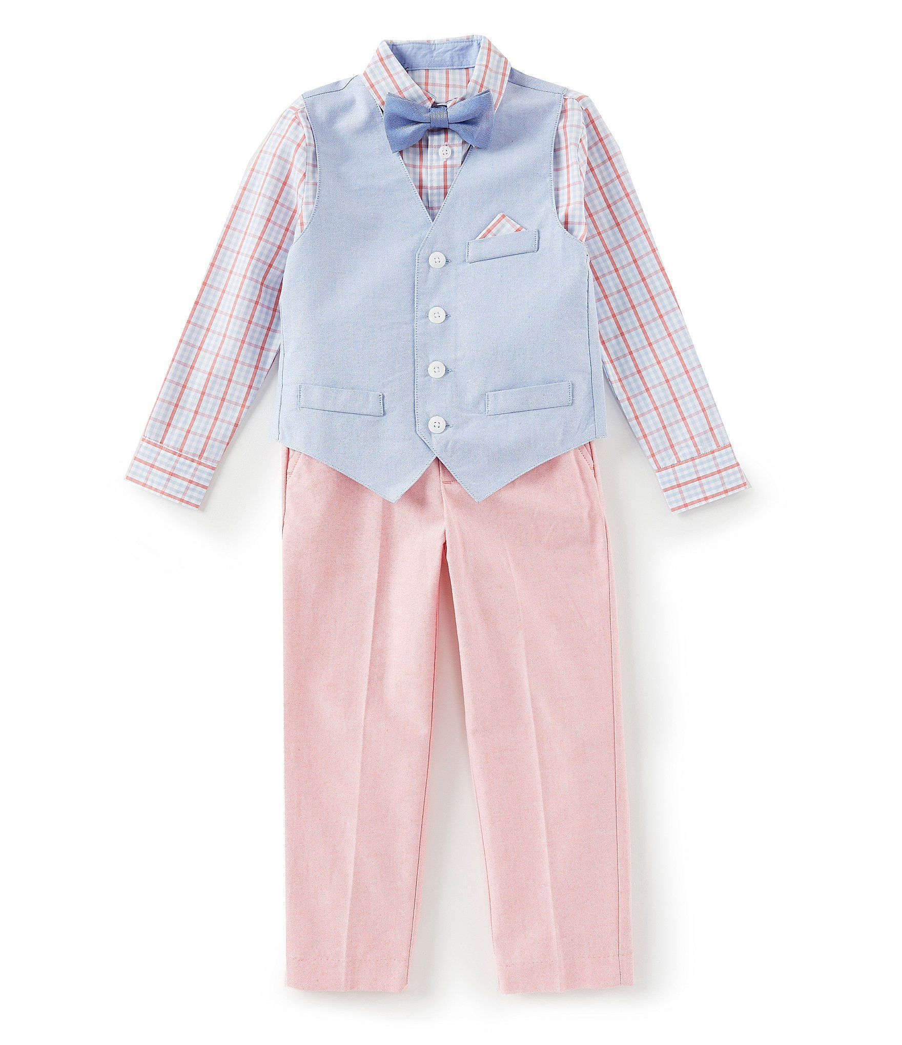 239a7a4cbc9 Shop for Class Club Little Boys 2T-7 Oxford Vest, Plaid Shirt, & Pants Set  at Dillards.com. Visit Dillards.com to find clothing, accessories, shoes,  ...
