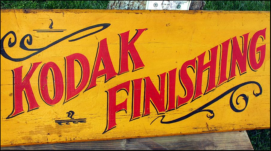 kodak signs advertising sign wood wooden finishing collectible visit