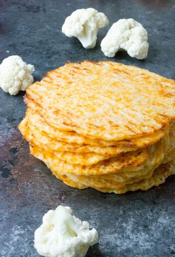 Koolhydraatarme bloemkool tortilla's - Lowcarbchef.nl