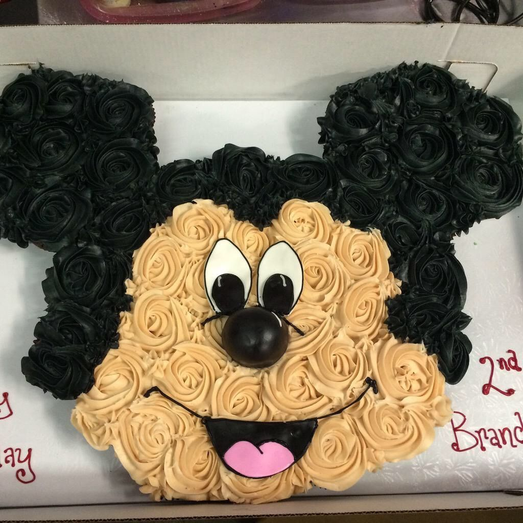 Miraculous Sweettbakeshop Mickeymouse Designed Cupcake Pull Apart Birthday Funny Birthday Cards Online Inifofree Goldxyz