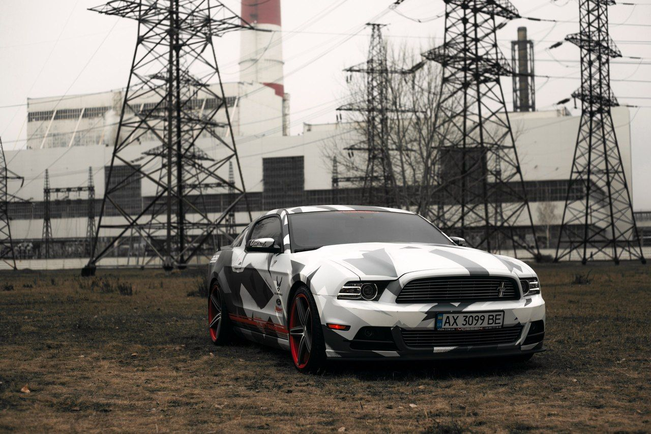 Grey and white ford mustang gt 2017 muscle car tuning image 2018 ford mustang vosseen vheels