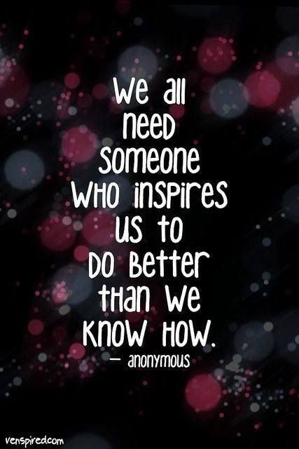 Who inspires you? Inspirations