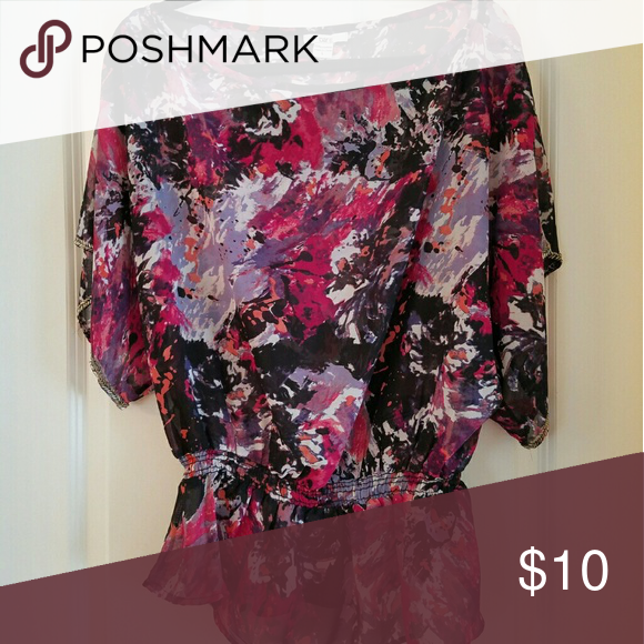 Sheet blouse Super fun sheer blouse. Perfect for a night out for drinks. Worn 2x. Size M Tops