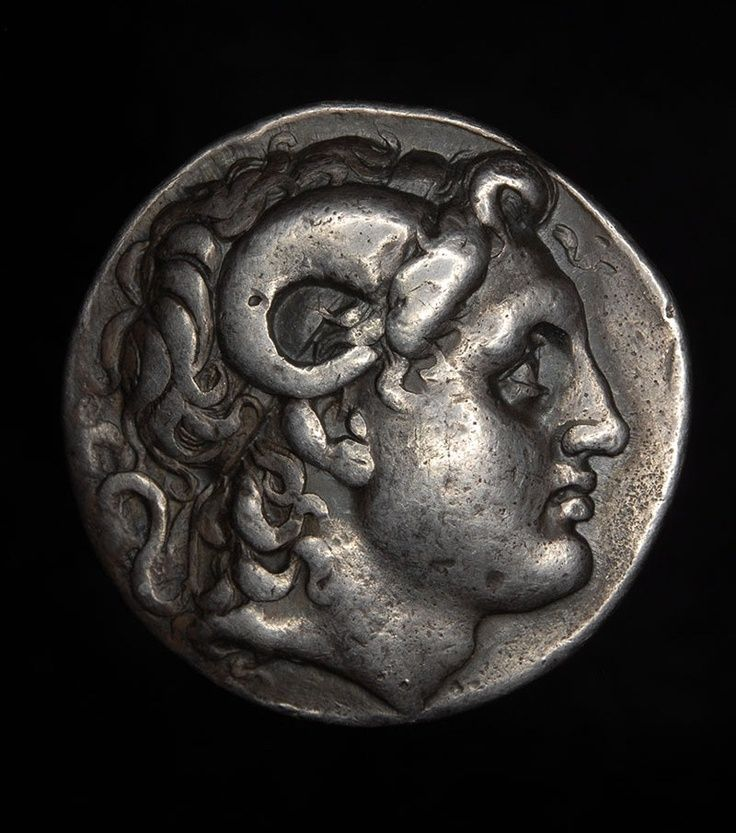 Ancient Greek silver Tetradrachm of Lysimachos - 323 - 281 B.C.