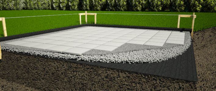 Awesome Concrete Pavers Shed Foundation