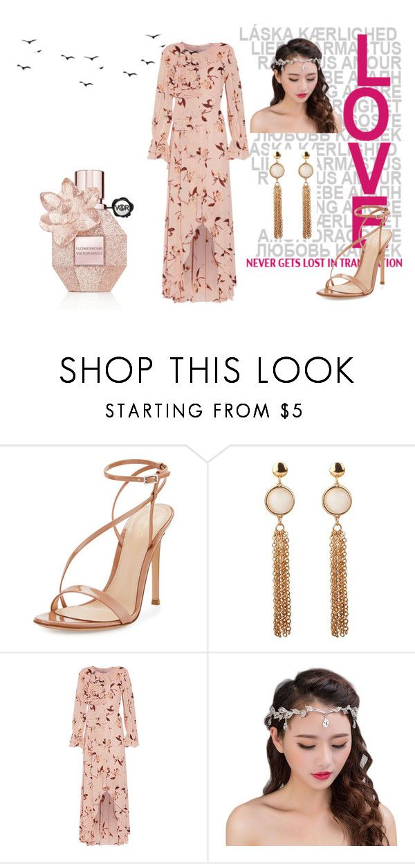"""""""princess for you"""" by jojohanakana on Polyvore featuring Gianvito Rossi, Mikael Aghal, cute, Pink and pretty"""