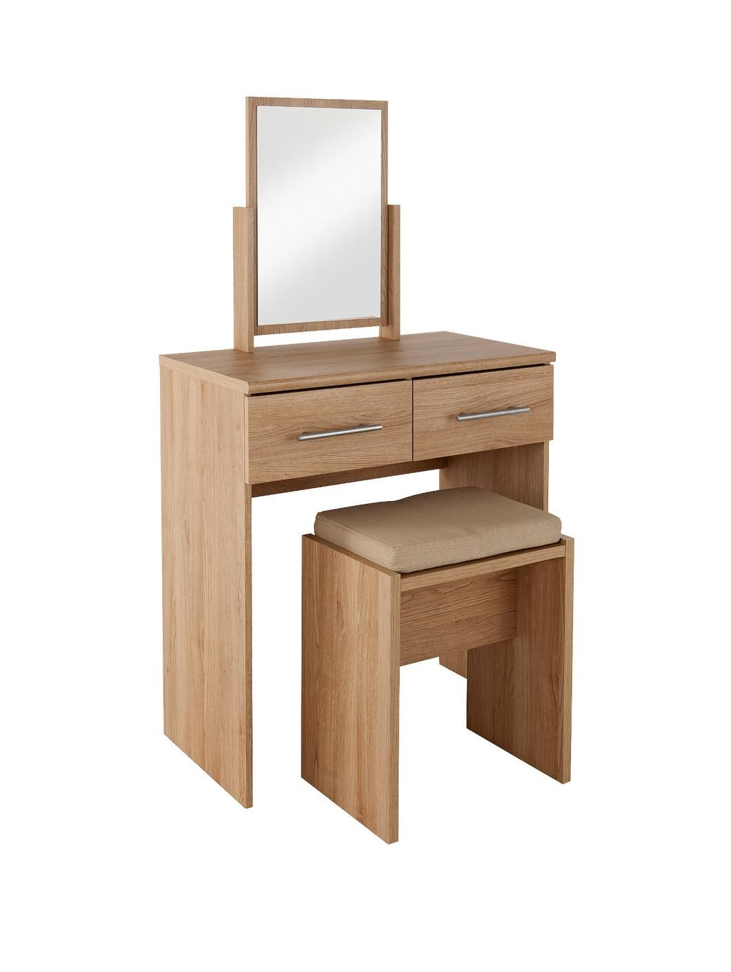Prague Dressing Table Stool And Mirror Set - Prague bedroom furniture set