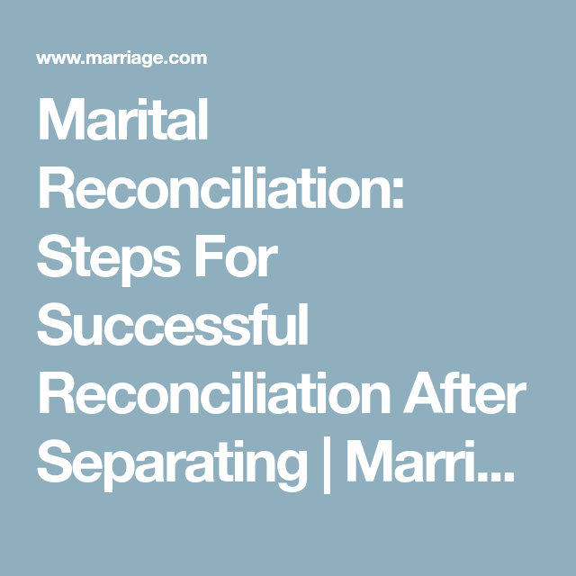 After separation reconciliation successful 8 steps