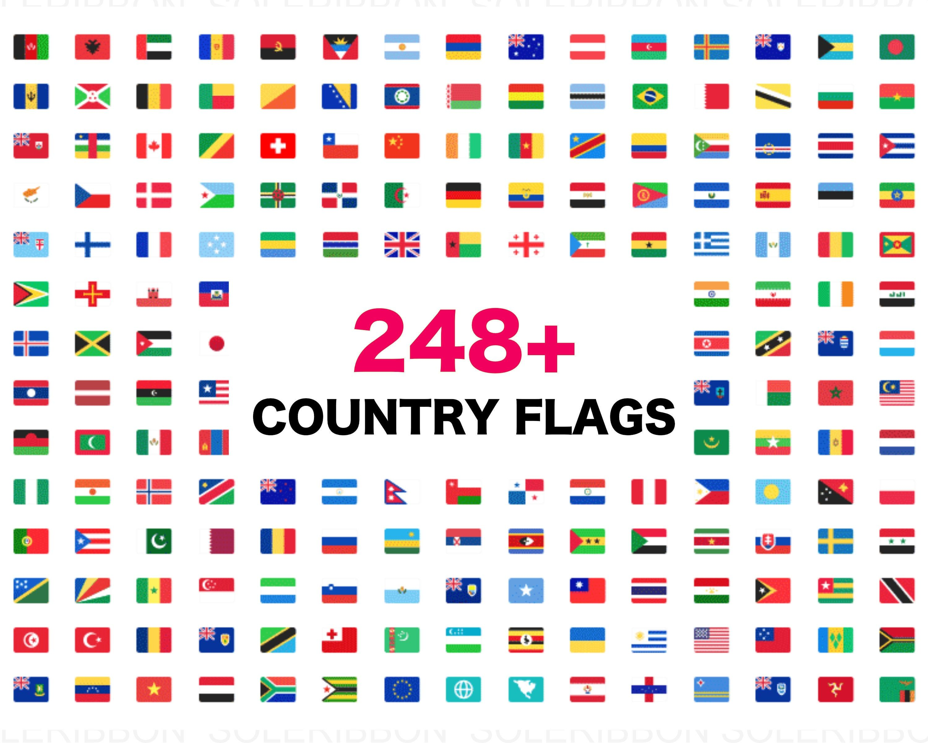 All Country Flags Svgs 248 Flags Of Nations World Clip Etsy In 2020 All Country Flags Flag Icon Flags Of The World