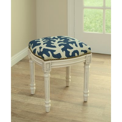Rosecliff Heights Colleton Linen Upholstered Vanity Stool Color