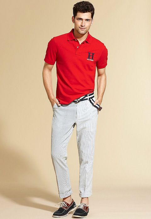 32590fc9e0 Sean O'Pry & Andre Douglas Keep It Casual for Tommy Hilfiger's Summer 2012  Collection