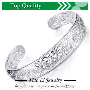 Free shipping 999 sterling silver jewelry silver bracelet silver fashion bracelet strand empty pattern wholesale trade XLZ06 $6.32