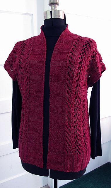 Four Seasons Vine Lace Vest Sweater Knitting Patterns